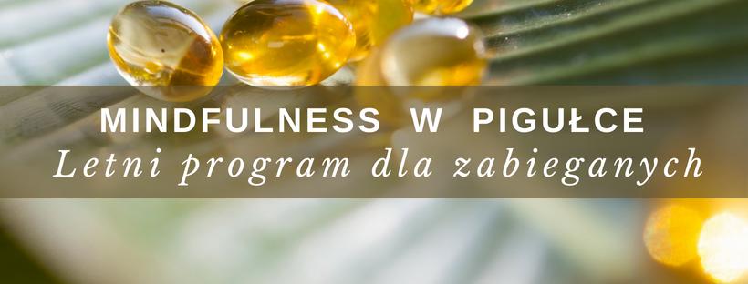 Mindfulness w pigułce – Letni program dla zabieganych (start 27.06.2018)