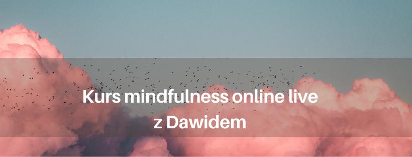 Kurs medytacji mindfulness i pracy ze stresem (online live) z Dawidem