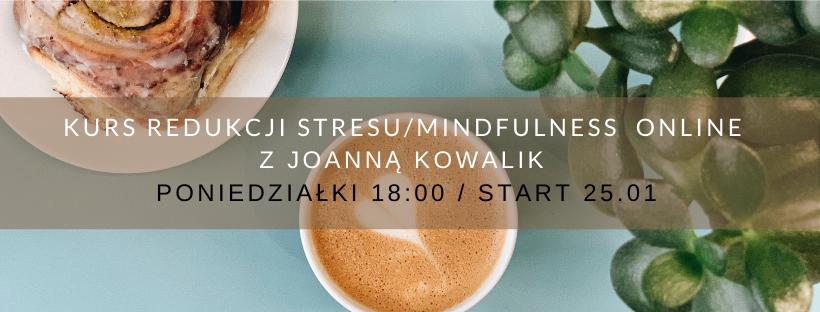 KURS REDUKCJI STRESU / MINDFULNESS ONLINE z Joanną Kowalik poniedziałki od 25.01.21